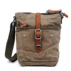 Forest Military-Inspired Canvas Crossbody Bag - Poppy Co-op Cheap Purses, Cheap Handbags, Cute Purses, Handbags Online, Online Bags, Luxury Handbags, Purses And Handbags, Brown Handbags, Fabric Handbags