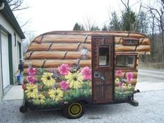 Another fun paint job on a vintage camper. camping-campers-trailers-rv