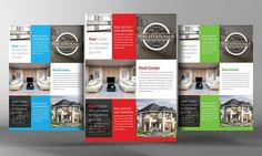 Real Estate Flyer Template by Business Templates on @creativemarket