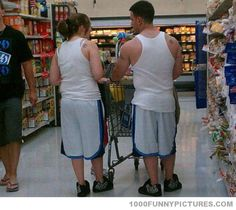 They not only have on matching outfits but notice the matching shoulder tattoos!? LoL