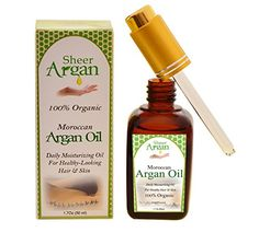 SHEER ARGAN  Moroccan Argan Oil  100 Pure  USDA certified organic for hair skin  nail treatment * Read more reviews of the product by visiting the link on the image.