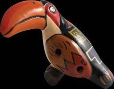 Animal Ocarinas, wooden ocarina, toucan, turtle | LittleTrove.com