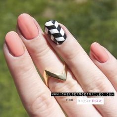 How To: Chevron Nail Art: Guest Blogger