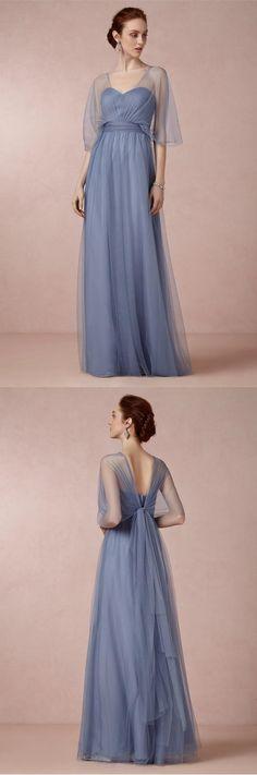 Charming Hot Sale Shoulder Straps Ruched Floor-length Long Bridesmaid Dress