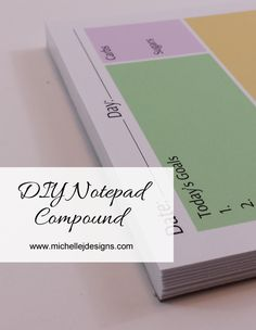 DIY Notepad Padding Compound - www.michellejdesigns.com