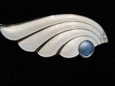 $125 RARE J Tostrup Enamel Norway Sterling Silver 925 Art Nouveau Brooch Pin | eBay