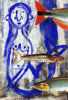 sereia e peixes by Massarani, via Flickr