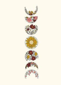 Art Hippie, Bohemian Art, Art Encadrée, Female Tattoos, Moon Art, Moon Moon, Flash Art, Future Tattoos, Aesthetic Iphone Wallpaper
