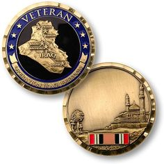 Operation Iraqi Freedom - Veteran Challenge Coin 1 inch round Brass alloy with enamel Imported Item Quantity: 1 Iraqi Military, Human Body Science, Military Challenge Coins, Make Money From Pinterest, Military Memorabilia, Coin Display, Rare Coins, Coin Collecting, Freedom