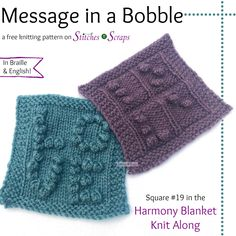 bb71978214e64d Free Pattern - Message in a Bobble - Harmony Blanket Square  19 via  S N S