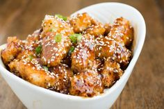 Baked Sesame Chicken-I loved sesame chicken takeout in highschool, but now that I'm older I need the same awesome flavor without the deep fried breadingohsweetbasil.com