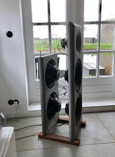 Diy Concrete open baffle speakers