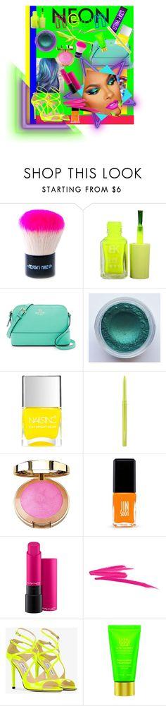 """Neon MOON"" by bren-fashun on Polyvore featuring beauty, WALL, Medusa's Makeup, Nails Inc., MAC Cosmetics, Milani, Jin Soon, NARS Cosmetics, Jimmy Choo and Tata Harper"