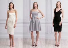 This post helps take the guess work out of the mix-n-match bridesmaids trend...and with Monique Lhuillier gowns!