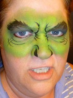face painting superheroes - hulk