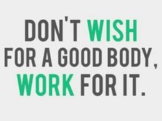 Your body will thank you for it :)