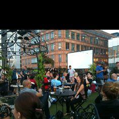 Rooftop cinema @ Hoxton Pony