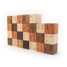 braille alphabet blocks, tactile wooden letters toy Just lovely. Warmth of wood and Braille :)