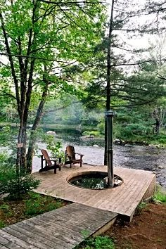 Outdoor Spaces, Outdoor Living, Outdoor Decor, Lakeside Living, Pergola, Haus Am See, Garden Design, House Design, Cabins In The Woods