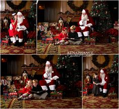 Photos with Santa would be a lovely Christmas card photo!