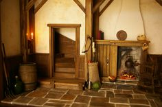 Doll House Roombox A Cottage Medieval by FirecraftMiniatures