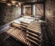 Desain kontemporer Guest Room ~ workshop kreasi furniture dari kayu pallet bekas