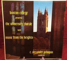 Boston College University Chorale LP album Music From The Heights 1963 Vintage!! #UniversityChoraleGleeClub