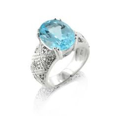 Genuine 6.5ct Blue Topaz Sterling Silver Ring