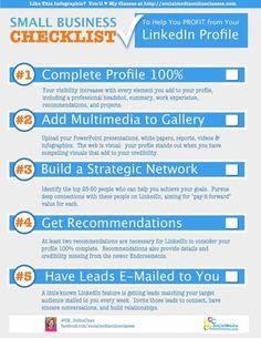 la checklist de la présence dans Linkedin pour les TPE via Small Business LinkedIn Checklist