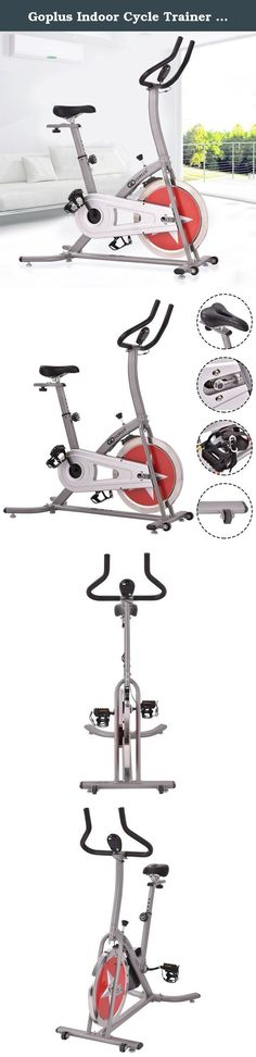 Goplus Indoor Cycle Trainer Adjustable Cycling Stationary Bike Gym Cardio Workout. This brand new Exercise Cycling Bike has a 22lbs flywheel that provides resistance while biking. The bike is designed with a fully adjustable seat with cushioned handle bars for comfort. There's no need to hit the gym or pay for those expensive cycling classes anymore. With this adjustable resistance exercise bike, you will definitely get a great workout. Exercising in the comfort of your own home has never...