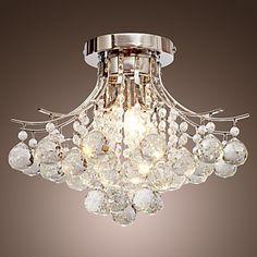 [NewYearSale]Lustre en #Cristal Moderne à 3 Ampoules - USD $ 139.99