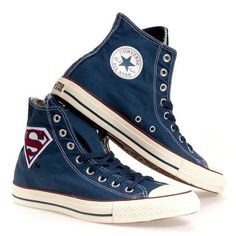 Converse ALL STAR HI SUPERMAN #converse #shoes #fashion
