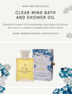 New and Exclusive Aromatherapy Associates Clear Mind Bath and Shower Oil