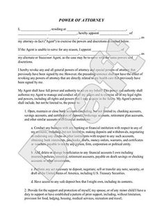 power of attorney sample letters