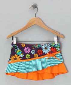 Loving this Orange & Purple Paradise Skirt - Toddler on #zulily! #zulilyfinds