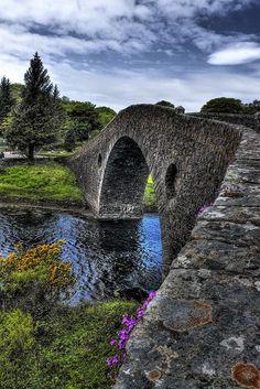 Clachan Bridge (aka Bridge over the Atlantic), linking the mainland with Seil island, Argyll and Bute, Scotland.