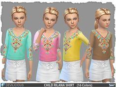 Rilana T-Shirt by Devilicious at TSR via Sims 4 Updates