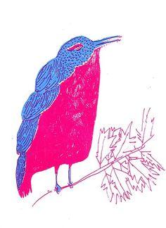 hand silkscreened print by Elizabeth Graeber