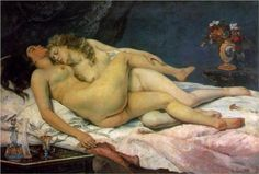 The Sleepers - Gustave Courbet