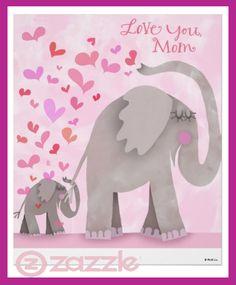 Cute Elephant Print -   Hallmark mother's day holiday artwork.