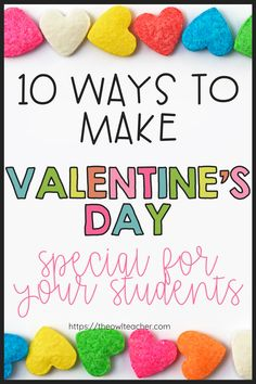 What do you like to do in the classroom for Valentine's Day? Check out this post where I walk you through 10 ways you can make Valentine's Day special for your sweet students. I provide you with free and engaging Valentine's day activities, crafts, read alouds, and other special events!