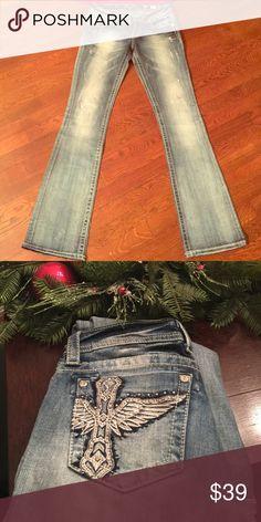 Miss Me Jeans 28 Miss me denim, light wash, boot cut jeans. Size 28. Excellent condition Miss Me Jeans Boot Cut