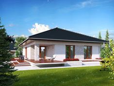 DOM.PL™ - Projekt domu MT Ariel 2 CE - DOM MS2-19 - gotowy koszt budowy Ariel 2, European House Plans, Tiny House, Gazebo, Php, Sweet Home, Outdoor Structures, How To Plan, Outdoor Decor