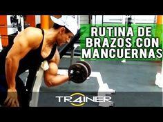 Rutina De Brazos Con Mancuernas - YouTube