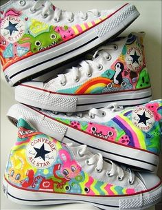 allstar, colorful, converse, doodles, illustration, sneakers
