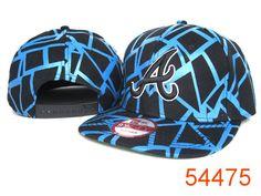 quality design e335f 8ddcc New Era MLB Atlanta Braves Snapback Hats Caps Black Blue streak line 3210!  Only  8.90USD