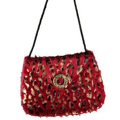 Fashion Avenue Red Leopard Print Purse Christmas Ornament