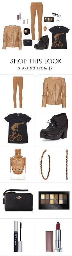 """""""Black"""" by dmiddleton ❤ liked on Polyvore featuring AG Adriano Goldschmied, Vanessa Bruno, rag & bone, 01 The One, Gypsy SOULE, Coach and Maybelline"""