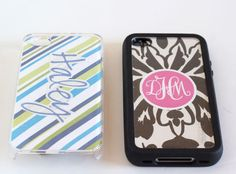 DIY Monogrammed Cell Phone Covers
