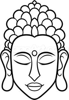 how to draw buddha easy step 7